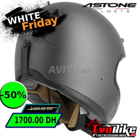 CASQUE ASTONE SUPER RETRO GRIS - PROMO  - 3