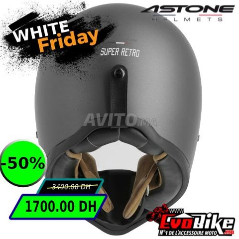 CASQUE ASTONE SUPER RETRO GRIS - PROMO  - 2