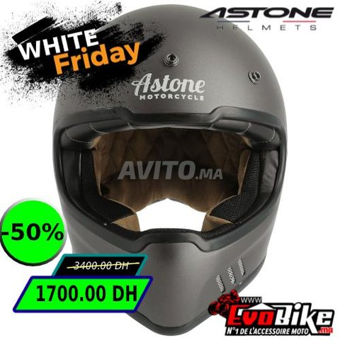 CASQUE ASTONE SUPER RETRO GRIS - PROMO  - 5