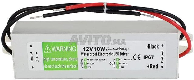 Transformateur 12v 10w ip67 Etanche - 3