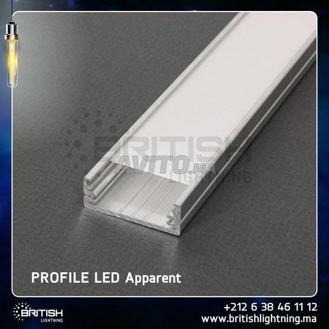 Profilé LED aluminium apparent  - 6