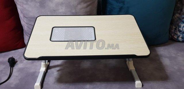 table pour pc portable avec ventilateur  - 3