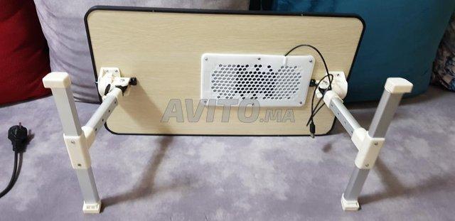 table pour pc portable avec ventilateur  - 4