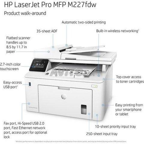 Laser Jet Pro MFP M227fdw - Imprimante WIFI- Blanc - 8