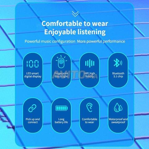 Bluetooth headset 5.1 Space capsule TWS Wireless - 4