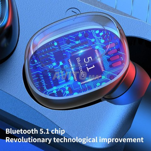 Bluetooth headset 5.1 Space capsule TWS Wireless - 3