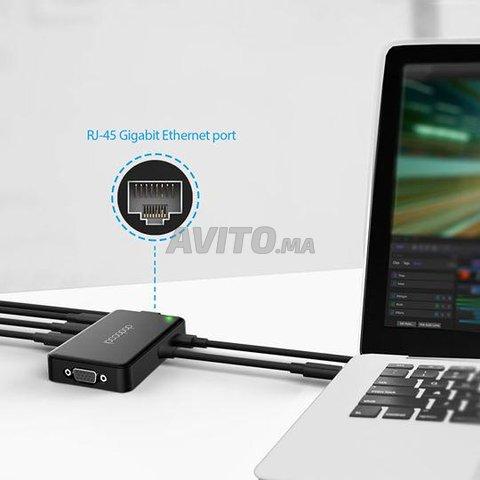 HUB USB-C Adaptateur Thunderbolt 7 en 1 - 8