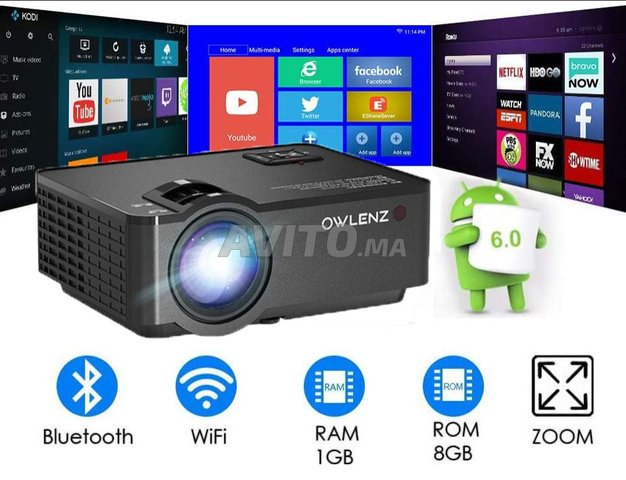 Android SD150 Projecteur 2400 Lumens - 1