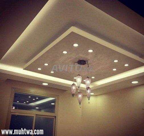 Cadre Spot plafond-Carré-Round-GU10 -Noir-Blanc - 6