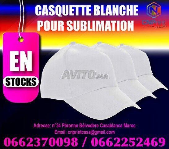 casquette blanche pour sublimation - 1