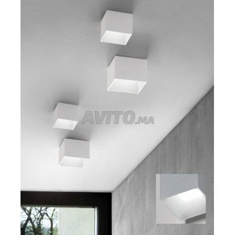 Cadre Spot plafond-Carré-Round-GU10 -Noir-Blanc - 5