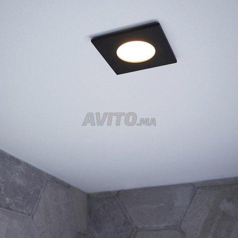 Cadre Spot plafond-Carré-Round-GU10 -Noir-Blanc - 4
