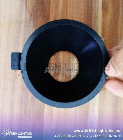 Cadre Spot plafond-Carré-Round-GU10 -Noir-Blanc - 1