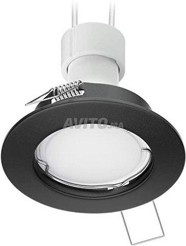 Cadre Spot plafond-Carré-Round-GU10 -Noir-Blanc - 2