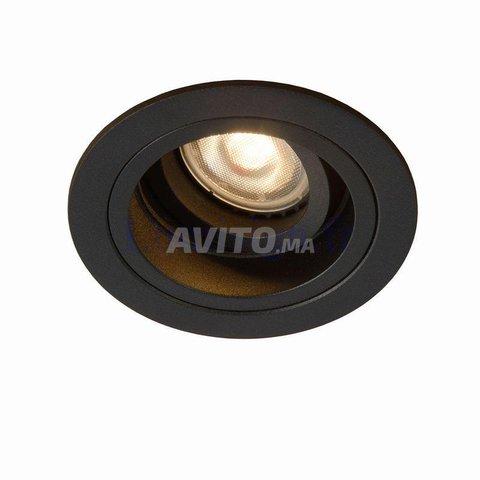 Cadre Spot plafond-Carré-Round-GU10 -Noir-Blanc - 3