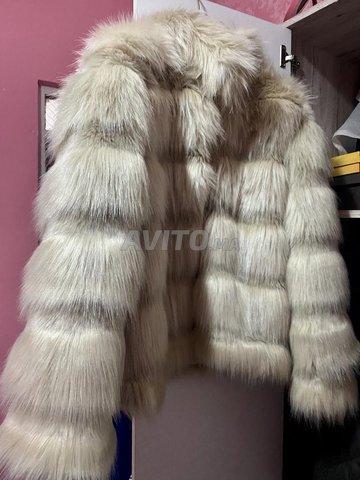 manteau fourrure beige Taille S M - 1