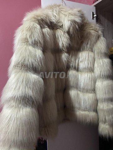 manteau fourrure beige Taille S M - 3