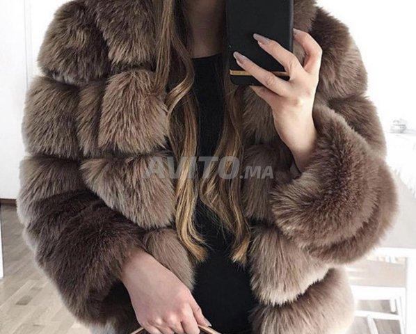 manteau fourrure beige Taille S M - 4