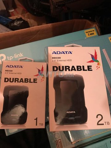 PACK Adata Disque dur externe 1TO/2TO portable  - 1