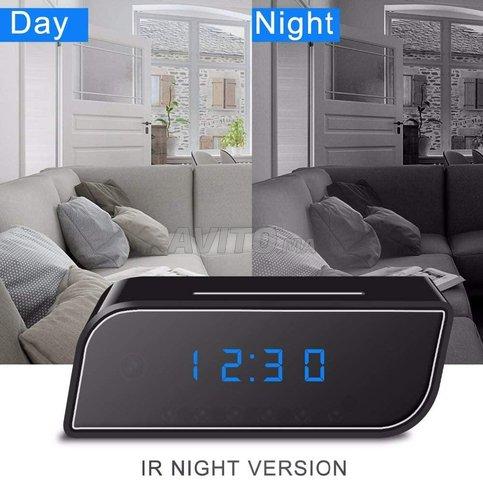 Caméra WIFI Horloge réveil HD 1080P Night vision - 2