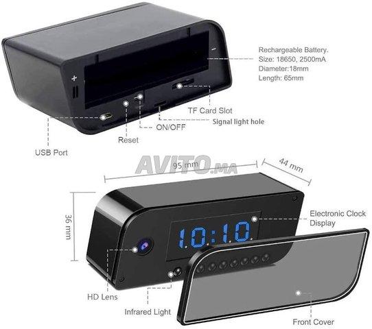 Caméra WIFI Horloge réveil HD 1080P Night vision - 4