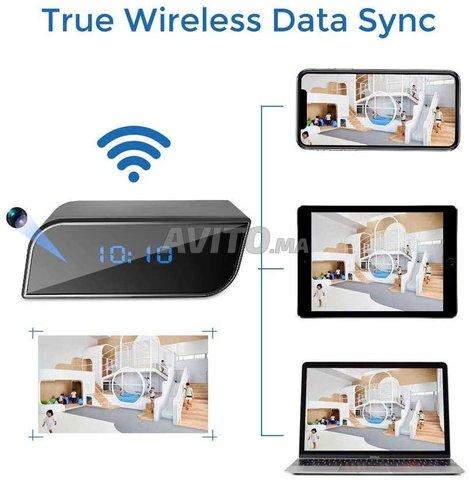 Caméra WIFI Horloge réveil HD 1080P Night vision - 5