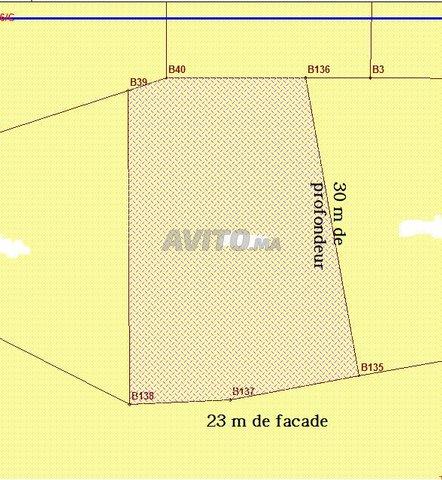 Terrain de 638m comm plus 3 niveaux pret de anoual - 1