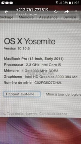 MacBook Pro 13-inch.. Early 2011 - 8