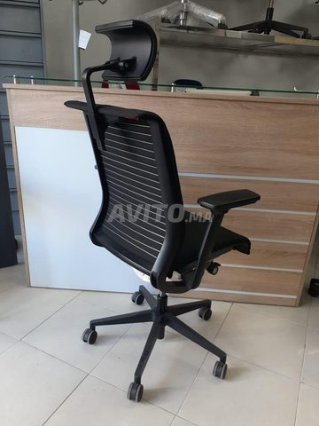 CHAISE STEELCASE NOIR OCCASION - 2