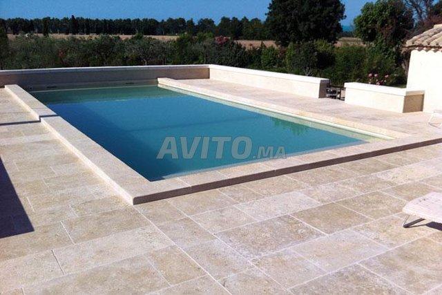 Revêtement piscine pierre de bali et marbre - 2