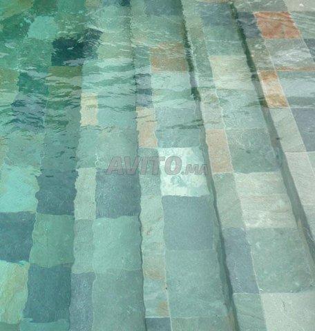 Revêtement piscine pierre de bali et marbre - 4