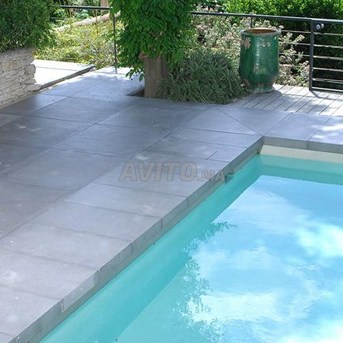 Revêtement piscine pierre de bali et marbre - 7