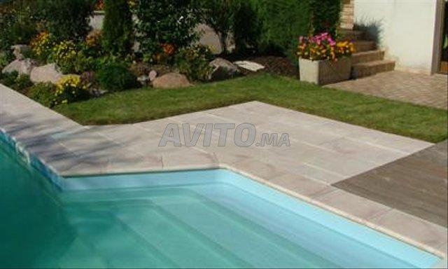 Revêtement piscine pierre de bali et marbre - 8