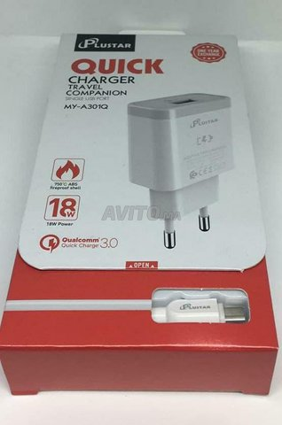 Plustar Quick Fast chargeur  V8 18W original - 3