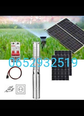 مضخة تعمل بالطاقة الشمسية بأربعة الواح مع التركيب - 1