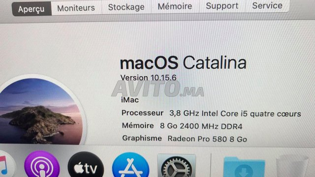 iMac i5 5k Retina 27 inch Radeon Pro 580X 8Go 2017 - 2