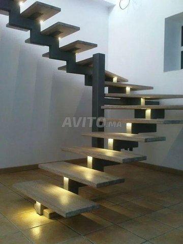 Abris métal - bois - escaliers - 7