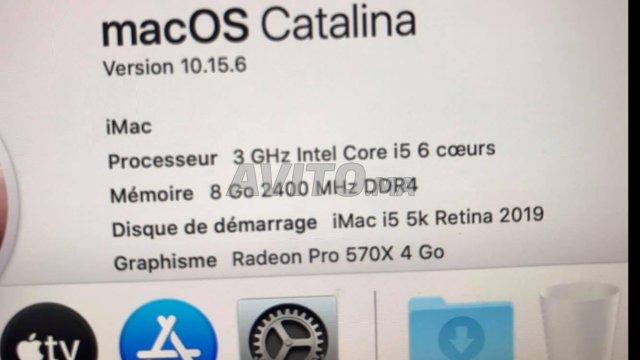 iMac i5 5k Retina 27inch 6 COEURS  8 Go 3Ghz  2019 - 3