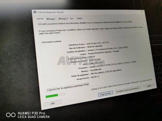 Lenovo Thinkpad P73 i7 9TH 50Go Ram 2TB SSD Nvidi - 5