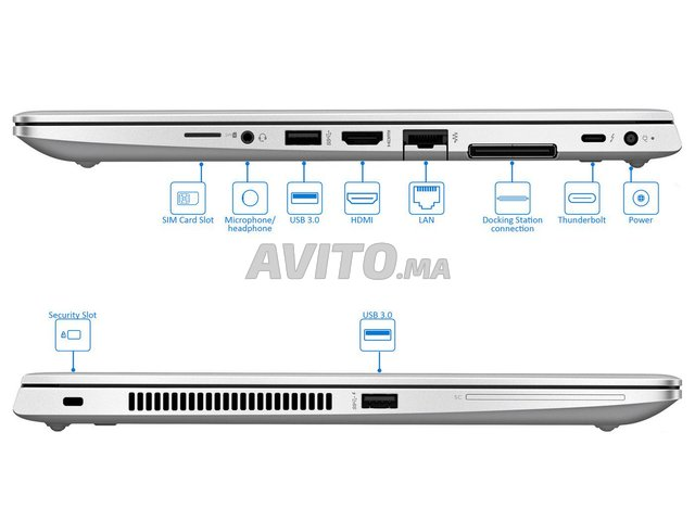 HP EliteBook 840 G5 Core i7-8650U I 16Go I 256 Go  - 2
