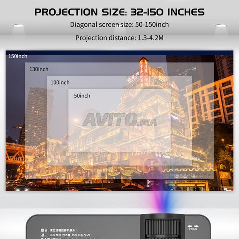 Projeteur SD150 SMART 2400 Lumens ANDROID 1080p - 3