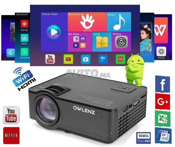 Projeteur SD150 SMART 2400 Lumens ANDROID 1080p - 1