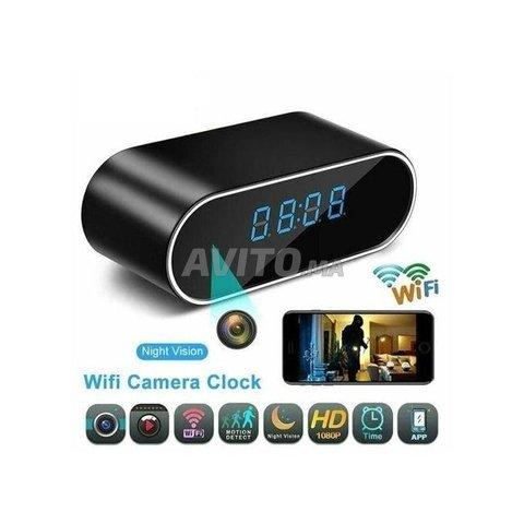 Horloge réveil caméra HD 4K WIFI IP - 1