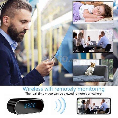 Horloge réveil caméra HD 4K WIFI IP - 2