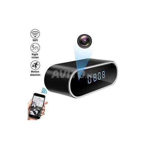 Horloge réveil caméra HD 4K WIFI IP - 3