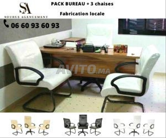 Pack Bureau et chaise en liquidation - 1