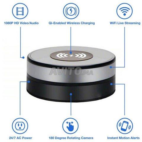 Chargeur sans Fil caméra espion WiFi - 7