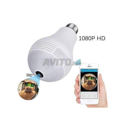 Ampoule Caméra WiFi Full HD 1080p panoramique 360  - 1