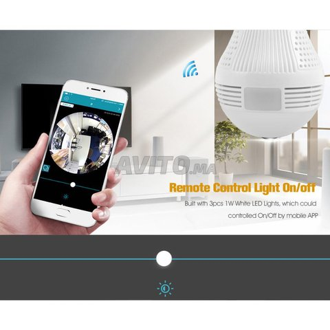 Ampoule Caméra WiFi Full HD 1080p panoramique 360  - 2