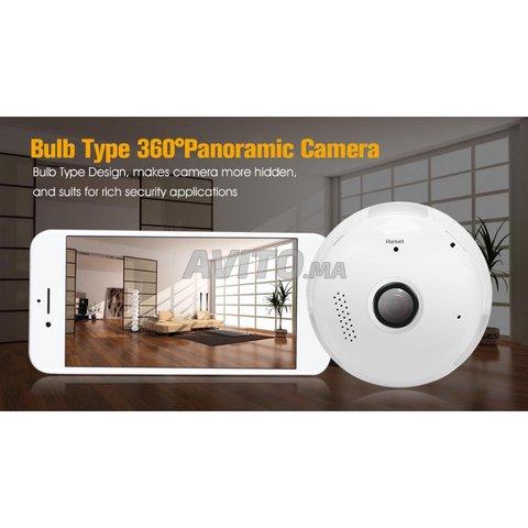 Ampoule Caméra WiFi Full HD 1080p panoramique 360  - 3